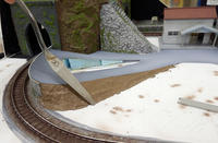初レイアウトに挑戦!(ホ)~ 11.トンネルと道路の整備(2) - 【趣味なんだってば】 鉄道模型とジオラマの製作日記