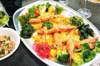■クリスマスおもてなし料理⑧~⑩【赤海老と帆立のウニソース/南瓜のサラダ/中華サラダ】パーティーケータリング料理です。 - 「料理と趣味の部屋」