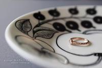 K18ピンクゴールドとミルグレイン、ローズカットダイアモンドの婚約指輪 - psyuxe*旅とアトリエのあいだ