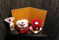 紅白ゴン太 - 羊毛フェルト男(羊毛フェルトマン)