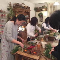 今年最終のワークショップお正月飾りレッスン♪ - Brindille Diary フラワースクール ブランディーユのBlog