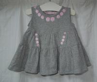 344.グレーのワンピース  (再アップ) - フリルの子供服