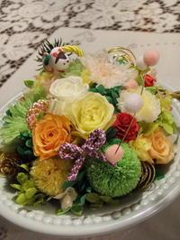 お正月花アレンジ生徒さん作品 - Flower ID. DESIGN