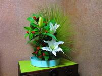 私のいけた正月花 - 東京いけばな日記 花と暮らしと生活と