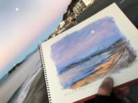 朝の月 - 湘南・鎌倉・海の絵〜画家・亀山和明のblog