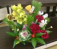 お正月アレンジ - coco diary 山口県 お花と絵とテーブルコーディネートレッスン