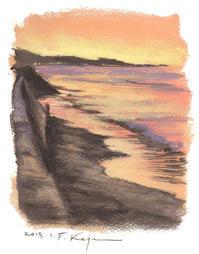 「二人だけの朝陽」 - 湘南・鎌倉・海の絵〜画家・亀山和明のblog
