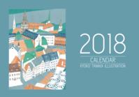 2018オリジナルカレンダー - たなかきょおこ-旅する絵描きの絵日記/Kyoko Tanaka Illustrated Diary
