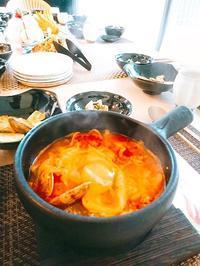 スンドゥブチゲ&チャプチェクラスはじまりました - 今日も食べようキムチっ子クラブ (料理研究家 結城奈佳の韓国料理教室)