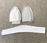 コートからのリメイク3帽子の縫い方1 - アトリエ A.Y. 洋裁教室