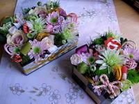 新春花飾り『花御重』5 - Flower ID. DESIGN