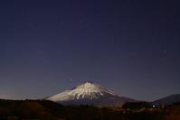 30年1月の富士(2)月灯りの富士 - 富士への散歩道 ~撮影記~