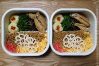 鶏のお弁当とローランドのお土産 - オヤコベントウ
