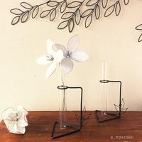 wireflowerと試験管スタンド。 - a.mgarden