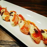 市田柿の自家製ラムレーズンクリームチーズでお洒落なインボルティーニ - わっぜ美味しい鹿児島としかぷーレシピ