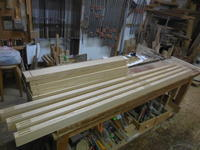 引違い戸の加工 - 手作り家具工房の記録