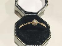 小さなローズカットダイヤモンドリング - AntiqueJewellery GoodWill