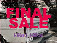 FINAL SALEのお知らせ。 - CHARGER JOURNAL