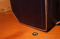 R100GS専用リアバッグ ブラック後染め 生成り芯 その1 - stovl leather log