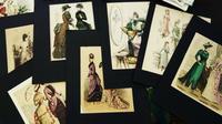 ファッション画 - スペイン・バルセロナ・アンティーク gyu's shop