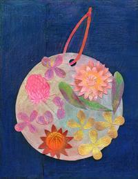 ボタニカルワックスプレート  切り絵コラージュ - 手製本クリエイター&切り絵コラージュ作家yukai の暮らしを愉しむヒント