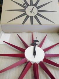 1/15の値上げを前に、K様ご注文...ジョージ・ネルソンSUNBURST CLOCK RED到着しました! - GLASS ONION'S BLOG