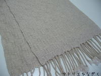 模紗織り、段染めマフラー - アトリエひなぎく 手織り日記