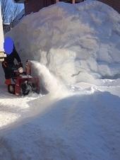 日々、自宅ランの排雪作業 - わんわん・パラダイス