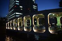 豊海橋 - ブルーアワーの街の情景