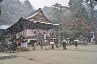 雪の日牟礼八幡宮初詣 - たんぶーらんの戯言