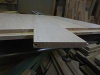 引き違い戸の腰板加工。 - 手作り家具工房の記録