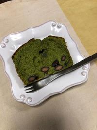黒豆抹茶パウンドケーキ - 庶民のショボい食卓