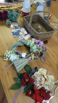 12月のプライベートレッスン報告 - double knit clover(ダブルニットクローバー) ブライダルフラワー 京王線