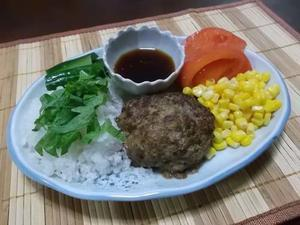 和風ハンバーグ(柚子ポン酢ソース)&大根の煮物 - 小町の日々の暮らし