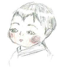 第43回人物スケッチ会のご報告 その3 5歳のK君がみずからモデルに - プチ撮り福岡そしてスケッチ 博多人物スケッチ会