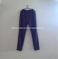Elastic waist knitted tapered pants-2 - 君をのせて