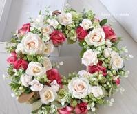 ordermさま1Rose rose wreath:Vanilla,green&red - hanarie-story