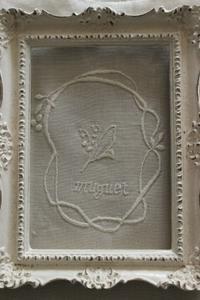 スズラン刺繍のリネン&ハンプトートバック - Petit mame