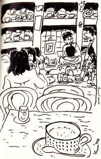 冬カフェ - あおいとりスケッチ