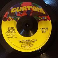 "Record : ""All Because Of You"" Leroy Hutson 7inchの謎 - Jazz Maffia BLOG"
