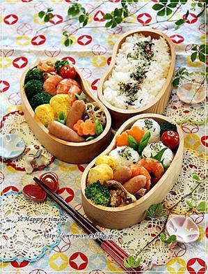 エビのうま煮弁当とシフォンケーキ♪ - ☆Happy time☆