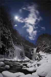 月光の秋保大滝  - 遥かなる月光の旅
