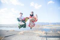 吉野川の新成人 - カメラガール