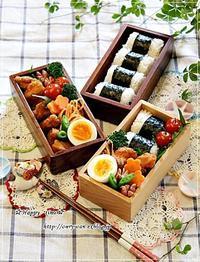 俵むすび・からあげ弁当と今夜は手巻き寿司♪ - ☆Happy time☆