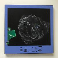 パグ&カエル - Pelan Pelan  ~chalk art design~