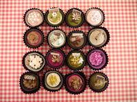 サボテン風カラフルミニカップケーキ・マグネット♡ - La Petite Poucette    ~神戸よりペーパーアートの作品と講座のご紹介~