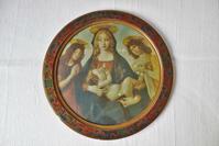 伊木製円形額703 - スペイン・バルセロナ・アンティーク gyu's shop