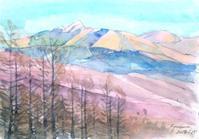 夕焼の八ヶ岳はこんな色 - ryuuの手習い