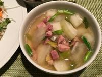 冬瓜とハムのスープ&中華風お刺身サラダ - やせっぽちソプラノのキッチン2