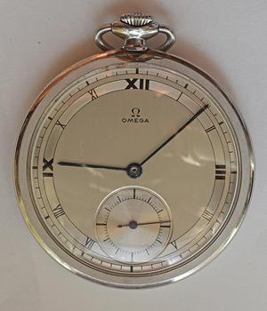 オメガ大型サイズ懐中時計 - 時計修理の佐藤時計店